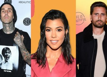 Kourtney Kardashian Scott Disick Travis Barker